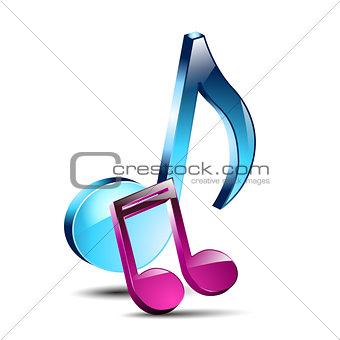 3D musical notes