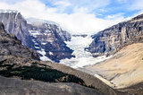 Landscape view of Columbia glacier in Jasper NP, Canadian Rockie
