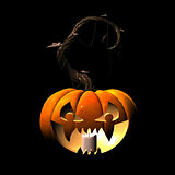 3d scary pumpkin