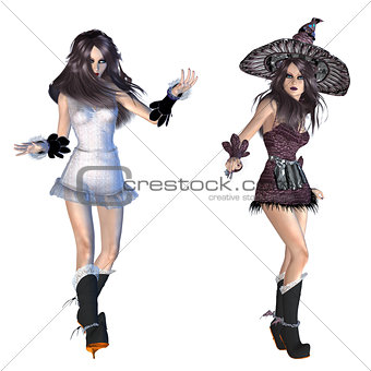 3d witch