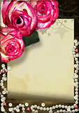 Grunge card with rose