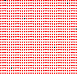 Red hearts background on white. Vector. art