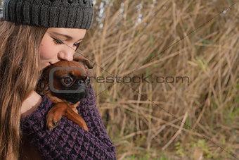 Kiss the dog