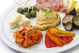 homemade assortment of appetizers,