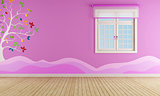 Pink playroom for girl
