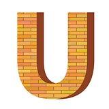 brick letter U