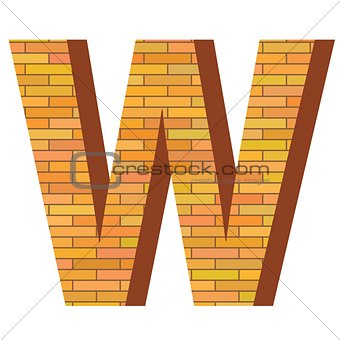 brick letter B