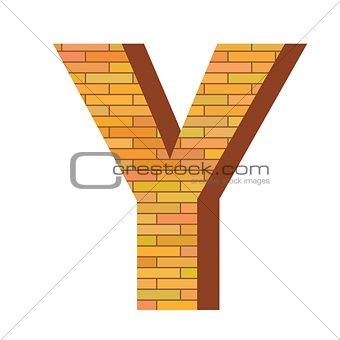 brick letter Y