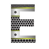 perforated metal letter E