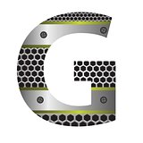 perforated metal letter G