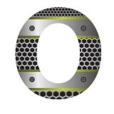 perforated metal letter O