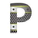 perforated metal letter P