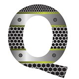 perforated metal letter Q