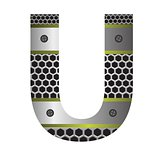 perforated metal letter U