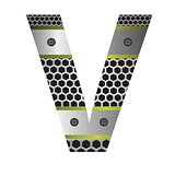 perforated metal letter V