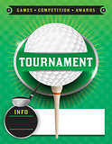 Golf Tournament Template Illustration