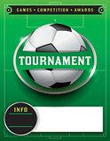 Soccer Football Tournament Template Illustration