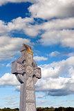 cloudy sky celtic cross