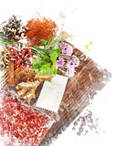 Watercolor Image Of  Cooking Ingredients