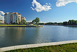Embankment of lake Verhnee (formerly Oberteich). Kaliningrad (fo