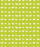 Seamless deer pattern