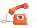 Vintage telephone answer handset