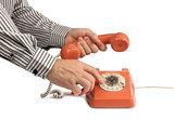 Vintage telephone calling handset