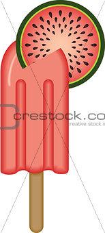 Watermelon Ice Cream Stick