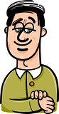 happy man cartoon illustration