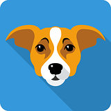 Vector dog icon flat design