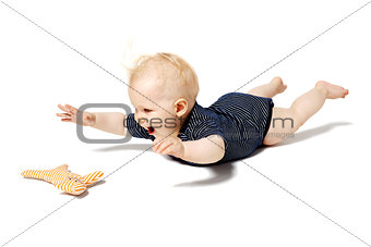 Baby Playing with Cat Toy