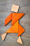 tangram dancing figure