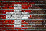 Dark brick wall - Switzerland