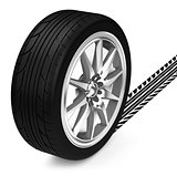 The car tire