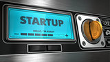 Startup on Display of Vending Machine.