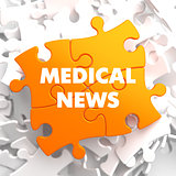 Medical News on Orange Puzzle.