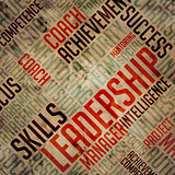 Leadership Concept - Grunge Wordcloud.