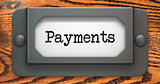 Payments - Concept on Label Holder.