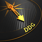 DDG - Business Background. Golden Compass Needle.