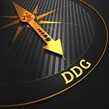 DDG - Business Background. Golden Compass Needle.