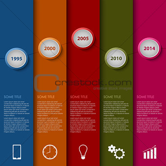 Time line info graphic striped modern template