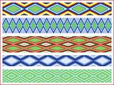 Set of five seamless rhombic patterns