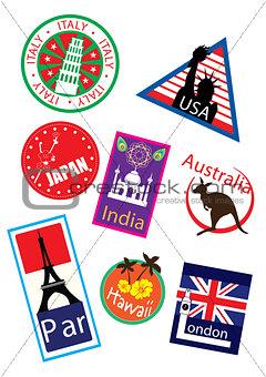 Country travel landmark