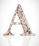 Abstract letter A.