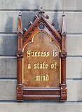 Decorative wooden sign - Success is a state of mind