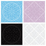 Set of vintage seamless patterns. Vector illustration