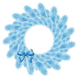 christmas blue wreath