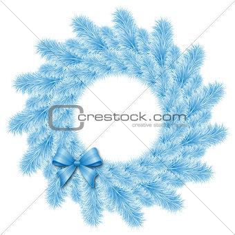 christmas blue wreath