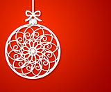 christmas paper ball 2
