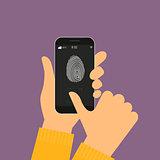 identification of fingerprint on smartphone